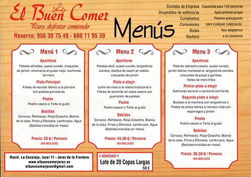 El buen comer el restaurante bares tapas y raciones for Menu de cenas